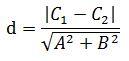 平行线间的距离公式