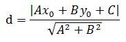 点到直线的距离公式